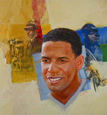 Painting - Denzel Washington by Cliff Spohn