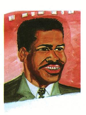 Malcolm X Art Drawing - Denzel Washington by Emmanuel Baliyanga