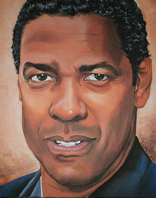 Denzel Washington Art Print by Timothe Winstead