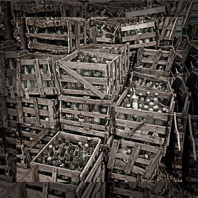 Photograph - Deposit Wooden Crate by Benoit Beal