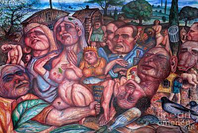 Depressive Art Art Print by Vladimir Feoktistov