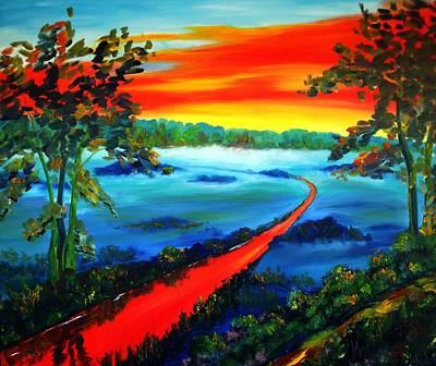 Karin Mueller Painting - der rote Fluss by Karin Mueller