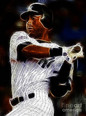 Derek Jeter Photograph - Derek Jeter New York Yankee by Paul Ward