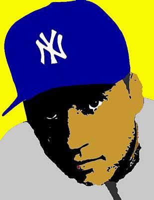 New York Yankees Drawing - Derek Jeter  by Paul Van Scott