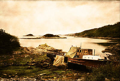 Derelict Boat In Outer Hebrides Art Print by Jasna Buncic