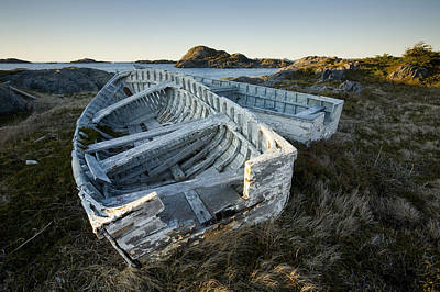 Derelict Boats, Change Islands Art Print by John Sylvester