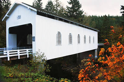 Landscape Photograph - Derena Covered Bridge by Tyra  OBryant
