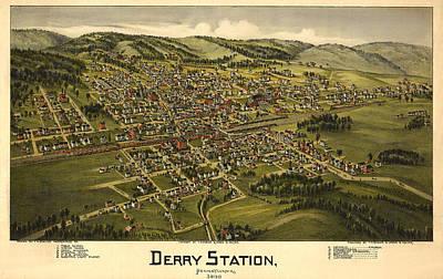 Derry Station Pennsylvania Art Print by Donna Leach