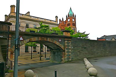 Photograph - Derry Walls by Charlie and Norma Brock