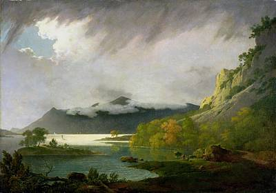 Joseph Photograph - Derwent Water With Skiddaw In The Distance by Joseph Wright of Derby