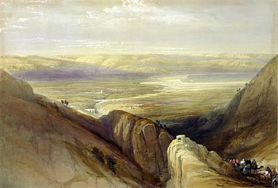 Descent Upon The Valley Of Jordan Art Print by Everett