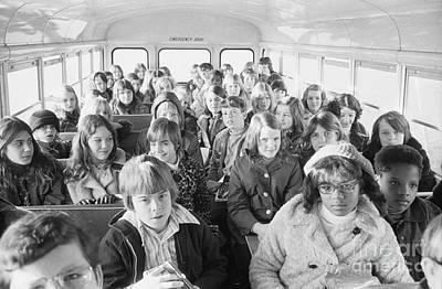 Desegregation: Busing, 1973 Art Print by Granger