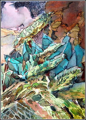 Aloe Painting - Desert Abstract by Mindy Newman