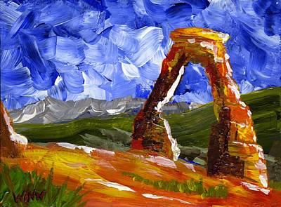 Painting - Desert Arch by Brett Winn