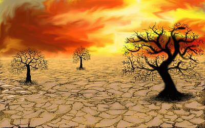 Sly Digital Art - Desert by Ayushi Bandil