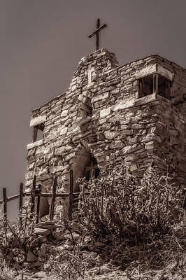 Art Print featuring the photograph Desert Chapel by Ken Stanback