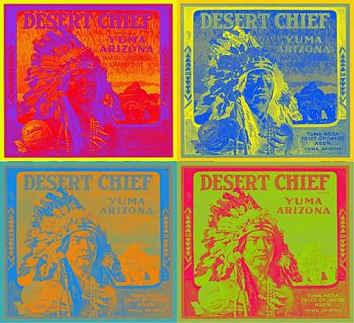 Desert Chief Cigar Box Label Art Print by Dwayne  Graham