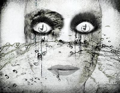 Kunst Mixed Media - Desert Drawning by Jenn Bodro