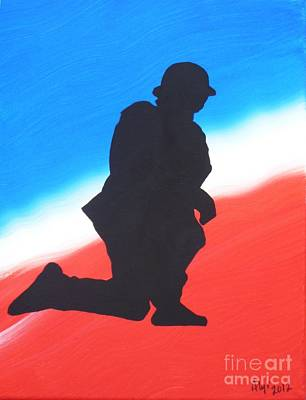 Iraq Painting - Desert Duty I by Alys Caviness-Gober