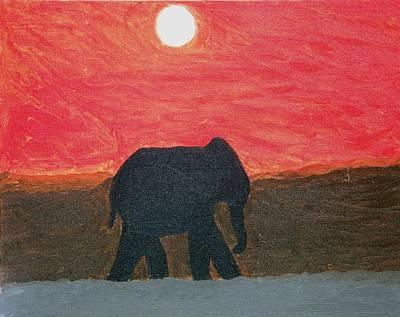 Painting - Desert Elephant by Dezera Davis
