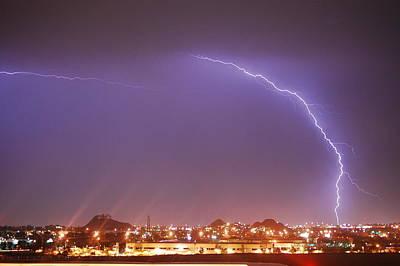 Desert Lightning Original by Jennifer Nixon