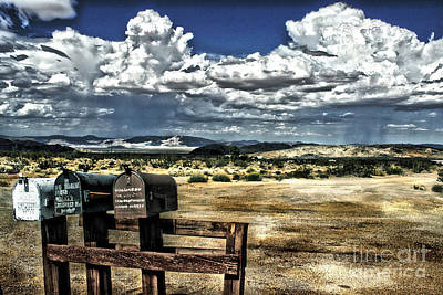 Pioneertown Photograph - Desert Mailboxes by Danuta Bennett
