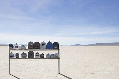 Mail Box Photograph - Desert Mailboxes by Dave & Les Jacobs