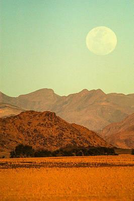 Photograph - Desert Moonrise by Alistair Lyne