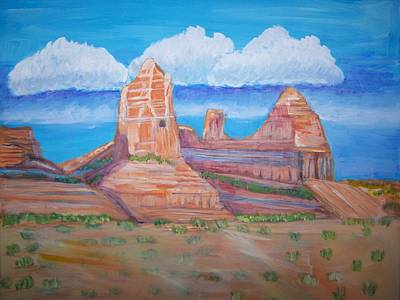 Art Print featuring the painting Desert Mountain by Belinda Lawson