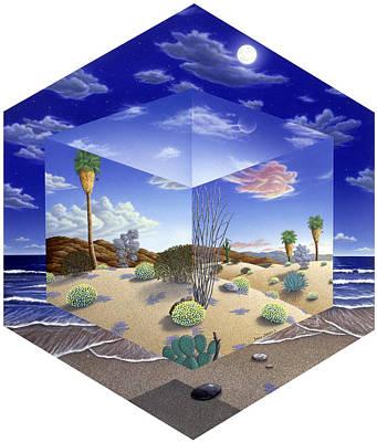 Desert On My Mind Art Print by Snake Jagger