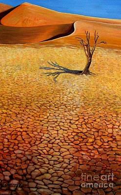 Desert Pan Art Print by Caroline Street