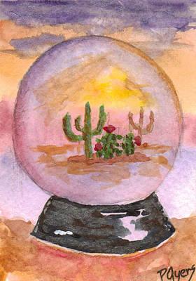 Painting - Desert Snowglobe by Paula Ayers