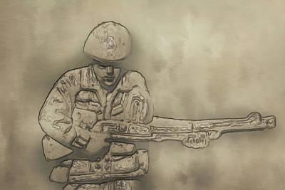 Desert Storm Army Soldier Art Print