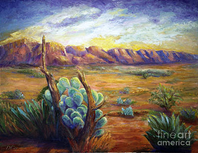 Painting - Desert Sunrise by Diana Cox