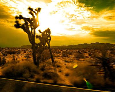 Desert Sunset Art Print by Aurica Voss