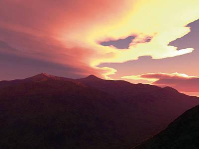Robert Duvall Digital Art - Desert Sunset by Robert Duvall