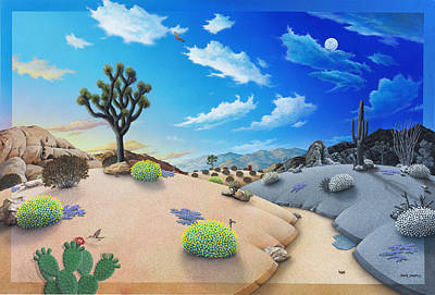 Desert Timeline Art Print by Snake Jagger
