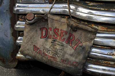 Old Trucks Photograph - Desert Water Bag by David Lee Thompson