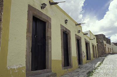 Photograph - Deserted Cobblestone Street Real De Catorce Mexico by John  Mitchell