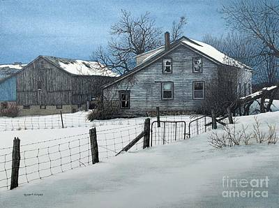Painting - Deserted Farm Prince Edward County by Robert Hinves