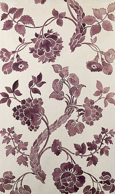 Burne-jones Tapestry - Textile - Design For A Silk Damask by Anna Maria Garthwaite
