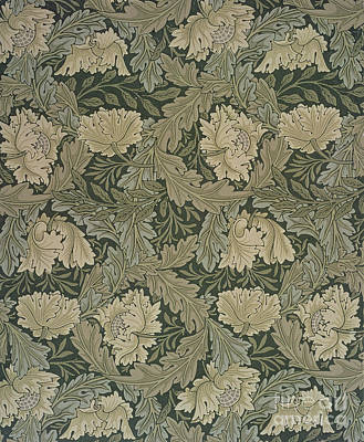 Arts And Crafts Painting - Design For 'lea' Wallpaper by William Morris