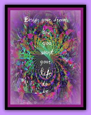 Design Your Dreams Art Print by Michelle Frizzell-Thompson