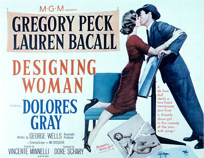 Designing Woman, Lauren Bacall, Gregory Art Print by Everett