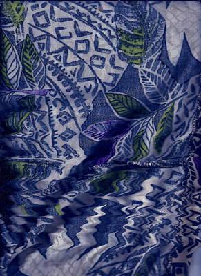Designs With Blues Art Print by Anne-Elizabeth Whiteway