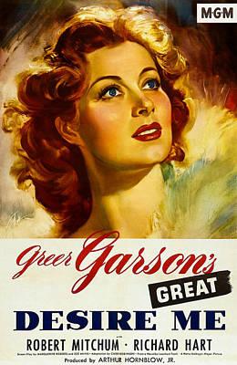 1940s Poster Art Photograph - Desire Me, Greer Garson On 1-sheet by Everett