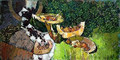 Cantaloupe Painting - Dessert. by Anastasija Kraineva