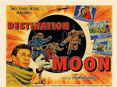 Destination Moon, Left John Archer Art Print by Everett