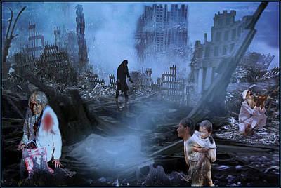 Ruins Mixed Media - Destruction by E  Kraizberg
