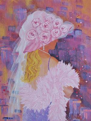 Painting - Pink Hat Beauty by Margaret Bobb
